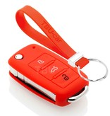 TBU car TBU car Car key cover compatible with Audi - Silicone Protective Remote Key Shell - FOB Case Cover - Red