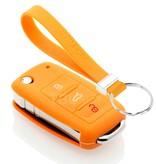 TBU car TBU car Sleutel cover compatibel met Skoda - Silicone sleutelhoesje - beschermhoesje autosleutel - Oranje