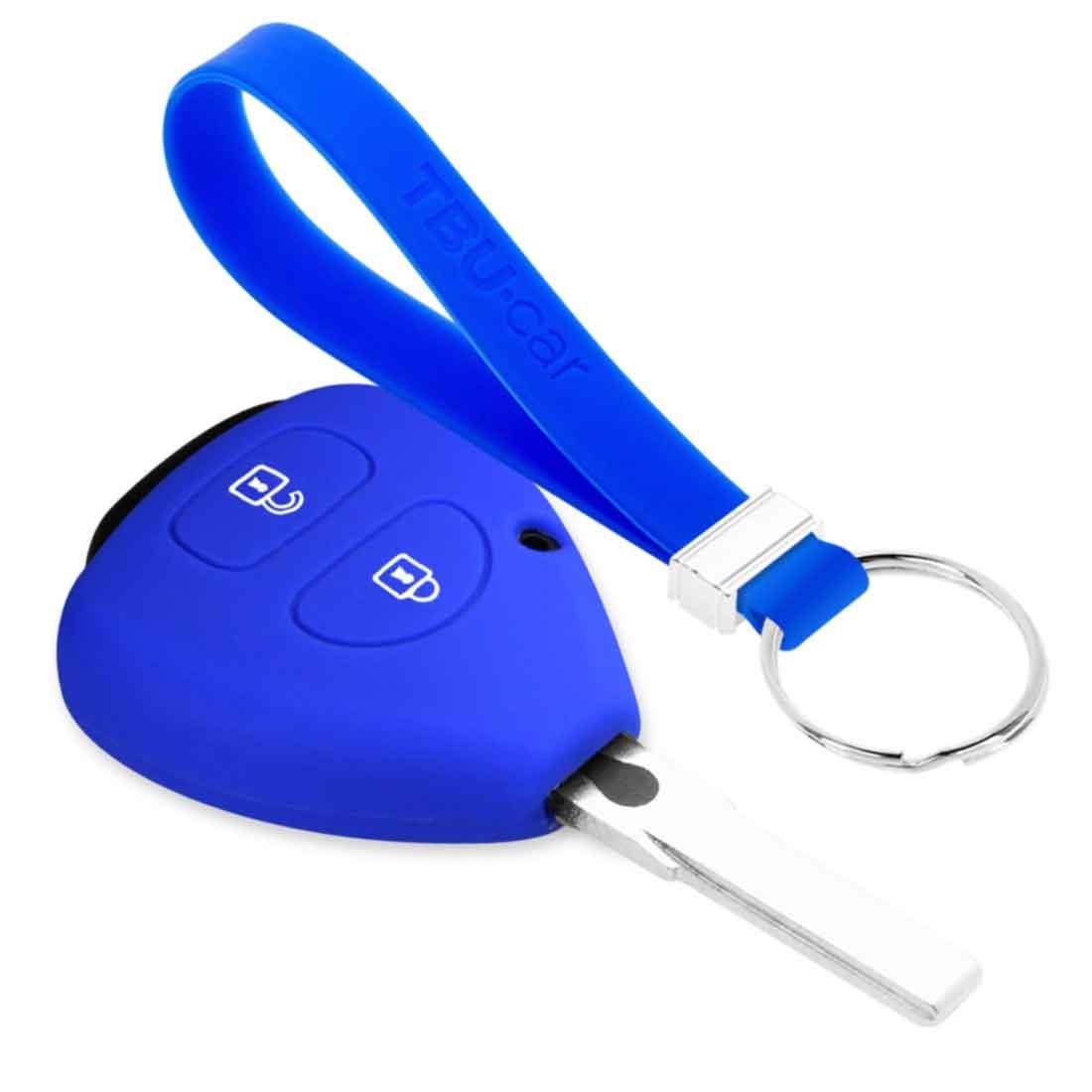 TBU car TBU car Sleutel cover compatibel met Toyota - Silicone sleutelhoesje - beschermhoesje autosleutel - Blauw