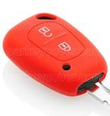 TBU car TBU car Sleutel cover compatibel met Renault - Silicone sleutelhoesje - beschermhoesje autosleutel - Rood