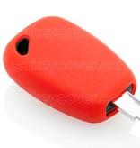 TBU car TBU car Autoschlüssel Hülle kompatibel mit Renault - Schutzhülle aus Silikon - Auto Schlüsselhülle Cover in Rot