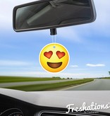 Lufterfrischer von Freshations | Emoticon - Heart Eyes | Summer