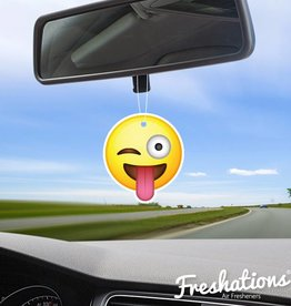 TBU car Luchtverfrisser Emoticon - Funny tongue | Citrus