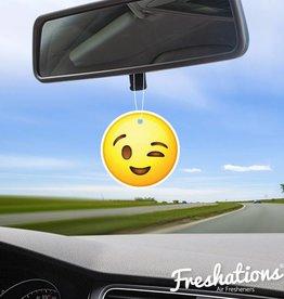 TBU car Air freshener Emoticon - Wink | Rose
