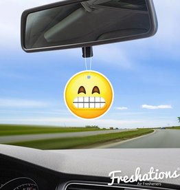 TBU car Lufterfrischer Emoticon - Teeth | Black Ice