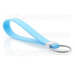 Porte-clés en silicone - Bleu clair