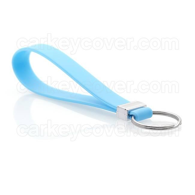 Portachiavi in silicone - Azul claro