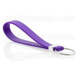 Porte-clés en silicone - Violet
