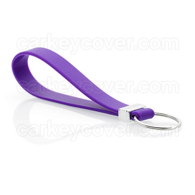 Schlüsselanhänger - Silikon - Violett