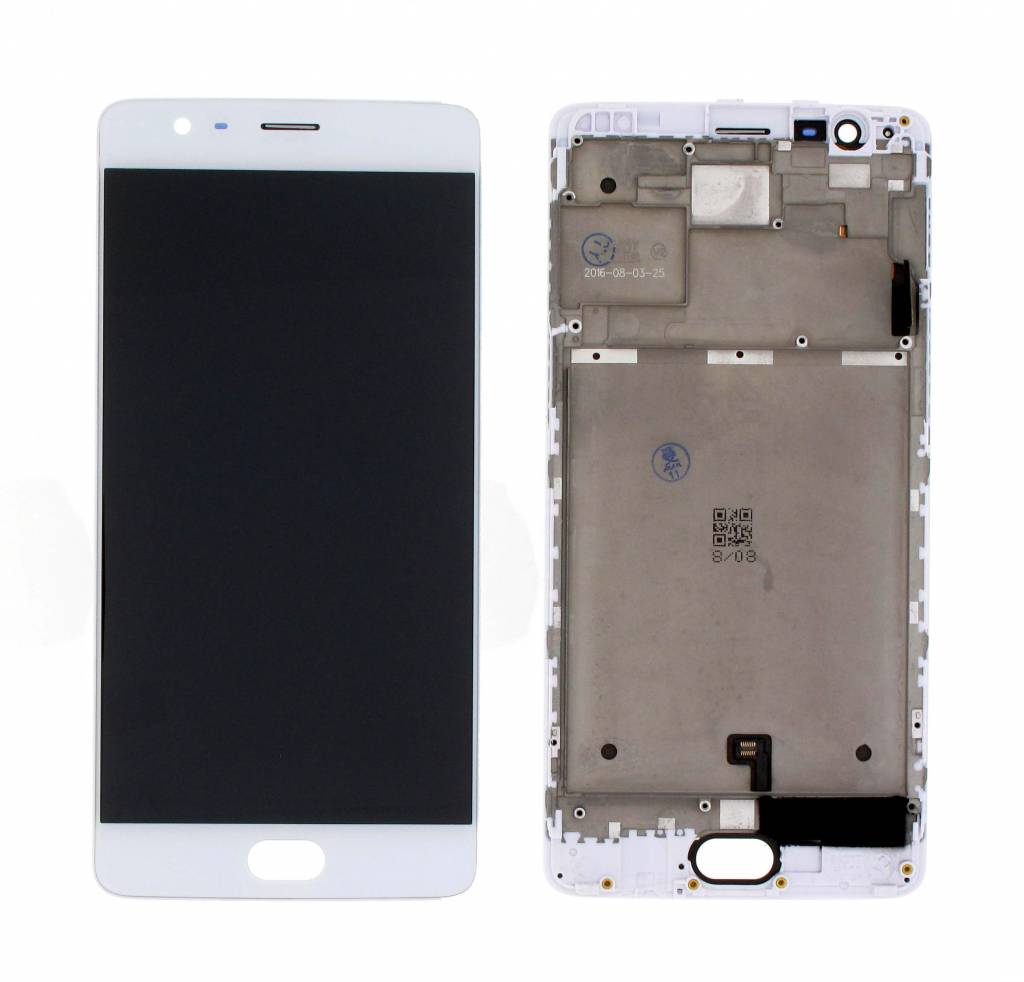 Oneplus 3 LCD Display Module, White, ONEPLUS3-LCD-WHT - Parts4GSM