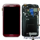 Samsung Galaxy Note II N7100 LCD Display + Touchscreen + Frame Red GH97-14112D [EOL]