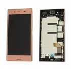 Sony Xperia XZ Premium G8141 LCD Display Module + Touch Screen Display + Frame, Pink, 1307-9873 [EOL]