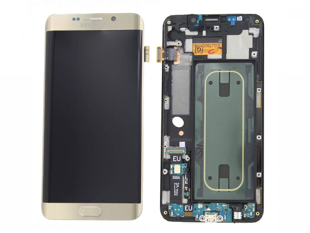 Samsung G928F Galaxy S6 Edge+ LCD Display Module, Gold, GH97