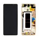 Samsung N950F Galaxy Note 8 LCD Display Module + Touch Screen Display + Frame, Goud, GH97-21065D