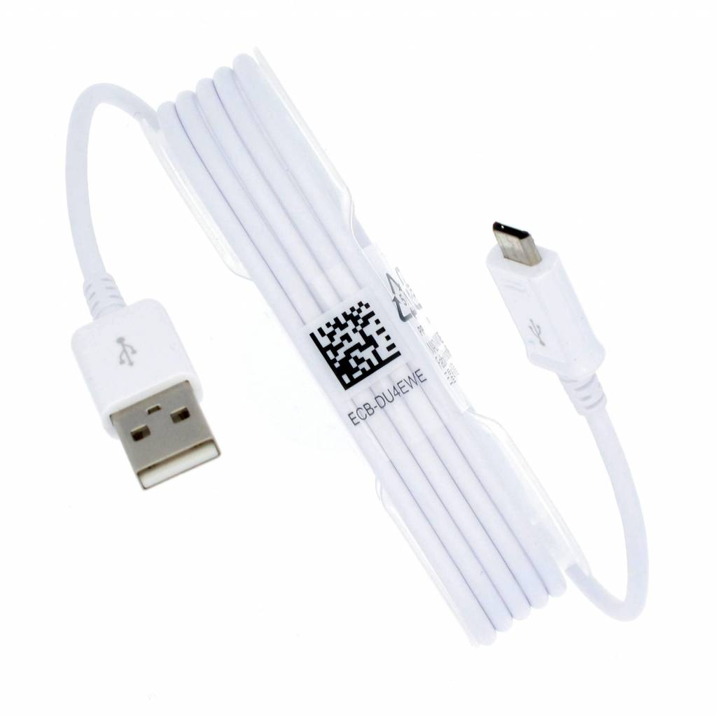 Samsung Micro USB Data Kabel, ECB-DU4EWE, Wit, 1.5M, GH39-01580Q;GH39-01801B