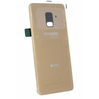Samsung A530F/DS Galaxy A8 2018 Duos Battery Cover, Gold, GH82-15557C