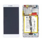 Huawei LCD Display Modul Honor 6X (BLN-L21), Weiß, 02351ADQ