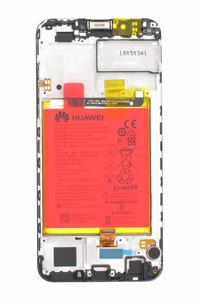 Huawei Y7 2018 (LDN-L21) LCD Display Module, Black, Incl