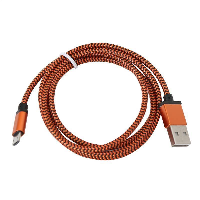 Platinet Micro Usb To Usb Fabric Braided Cable 1M Orange