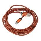 Platinet Usb Lightning Stof Gevlochten Kabel 2M Oranje
