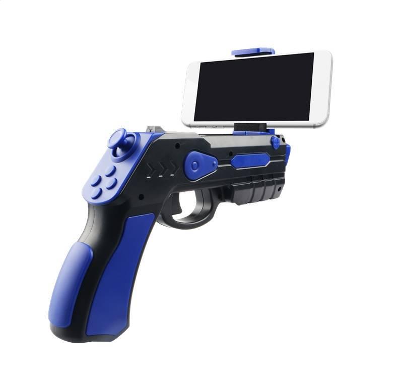 Omega Gun Blaster Augmented Reality Zwart/Blauw Geschikit voor iPhone/IOS [44350]