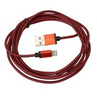 Platinet USB Lightning Kabel Stof Gevlochten 2M Rood