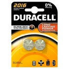 Duracell 2016 lithium button cell batteries (CR2016 / DL2016)