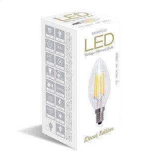 Omega LED lamp gloeidraad E14 2800K 4W kaars