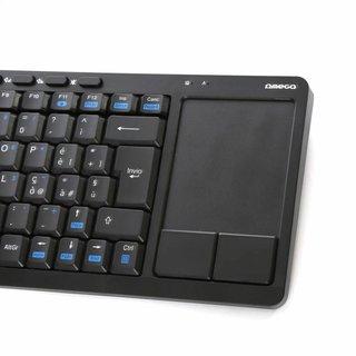 Omega Draadloze toetsenbord met touchpad [US] Voor Smart Tv's, Computers & Consoles  Zwart [43666]