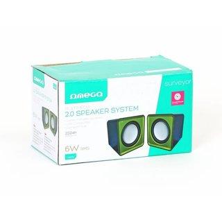 Kleine Omega Luidsprekers 2.0 Surveyor 6W Groen USB [41921]