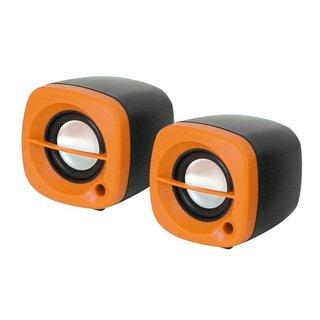 Kleine Omega Luidsprekers 2.0 6W Oranje USB [43043]