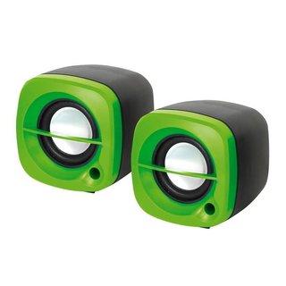 Kleine Omega Luidsprekers 2.0 6W Groen USB [43042]