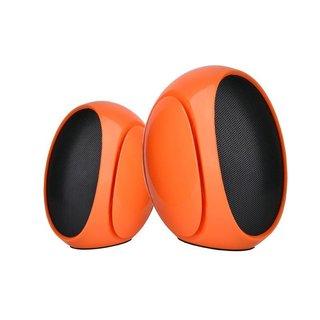 Omega Luidsprekers 2.0 Og-117B Oranje 3W RMS USB [42719]