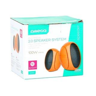 Omega Speakers 2.0 Og-117B Orange 3W Rms USB [42719]