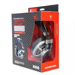 Omega Varr Headset Hi-Fi Stereo Mic Ovh4060 Led Vibration Gray [44409]
