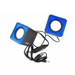 Kleine Omega Luidsprekers 2.0 Surveyor 6W Blauw USB [41584]