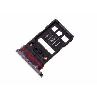 Huawei Mate 20 Pro Dual Sim (LYA-L29C) Sim- + Geheugenkaart Houder, Zwart, SIM + NM, 51661KCR