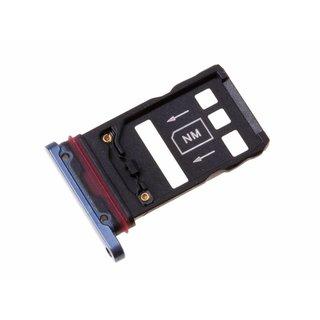 Huawei Mate 20 Pro Dual Sim (LYA-L29C) Sim + Speicherkarten Halter, Blau, SIM + NM, 51661KCS