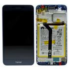 Huawei Honor 6C Pro (JMM-L22) LCD Display Module, Blauw, Incl. Battery HB366481ECW, 02351NRT