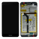 Huawei Honor 6C Pro (JMM-L22) LCD Display Module, Zwart, Incl. Battery HB366481ECW, 02351LNC