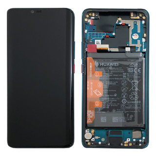Huawei Mate 20 Pro Dual Sim (LYA-L29C) LCD Display Module, Emerald Green/Groen, Incl. battery HB486486ECW, 02352GGB