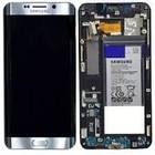 Samsung LCD Display Modul G928F Galaxy S6 Edge Plus, Silber, GH82-13206A, Incl. Batterie EB-BG928ABE