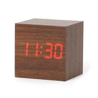 Platinet Zegar Alarm Clock Wooden Cube