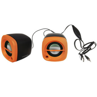 Omega Speakers 2.0 Og-15 6W Orange USB [43043]