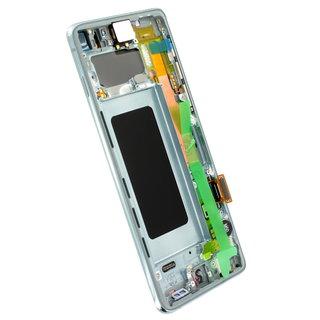 Samsung G973F Galaxy S10 LCD Display Module, Prism Green/Groen, GH82-18850E
