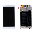 Huawei Y7 Dual Sim (TRT-L21) LCD Display Module, Zilver, Incl. Battery, 02351GJV