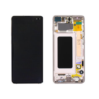 Samsung G975F Galaxy S10+ LCD Display Module, Ceramic White/Wit, GH82-18849J