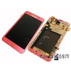 Samsung Galaxy Note N7000 Intern Beeldscherm + Touchpanel Glas, Buitenvenster Raampje + Frame Roze GH97-12948C | Bulk vk4 r1 [EOL]