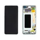 Samsung G975F Galaxy S10+ LCD Display Module, Prism Green/Groen, GH82-18849E;GH82-18834E