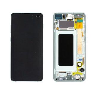 Samsung G975F Galaxy S10+ LCD Display Modul, Prism Green/Grün, GH82-18849E